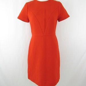 Wool Blend Short Sleeve Career Dress